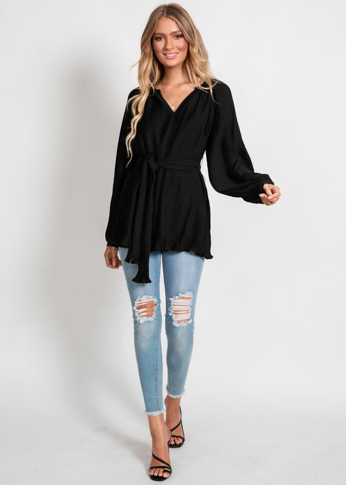 Mandalay Tie Blouse - Black