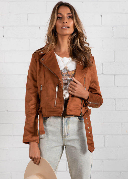Without Me Jacket - Tan