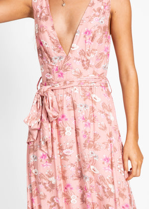 Tilly Midi Dress - Pink Floral