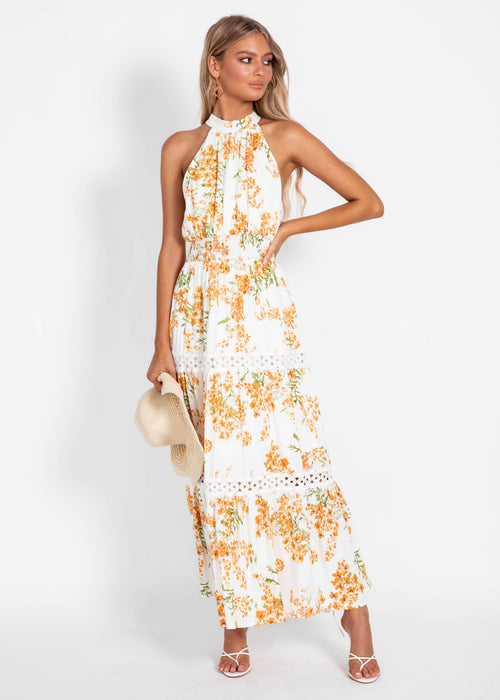 New Memories Maxi Dress - Clementine