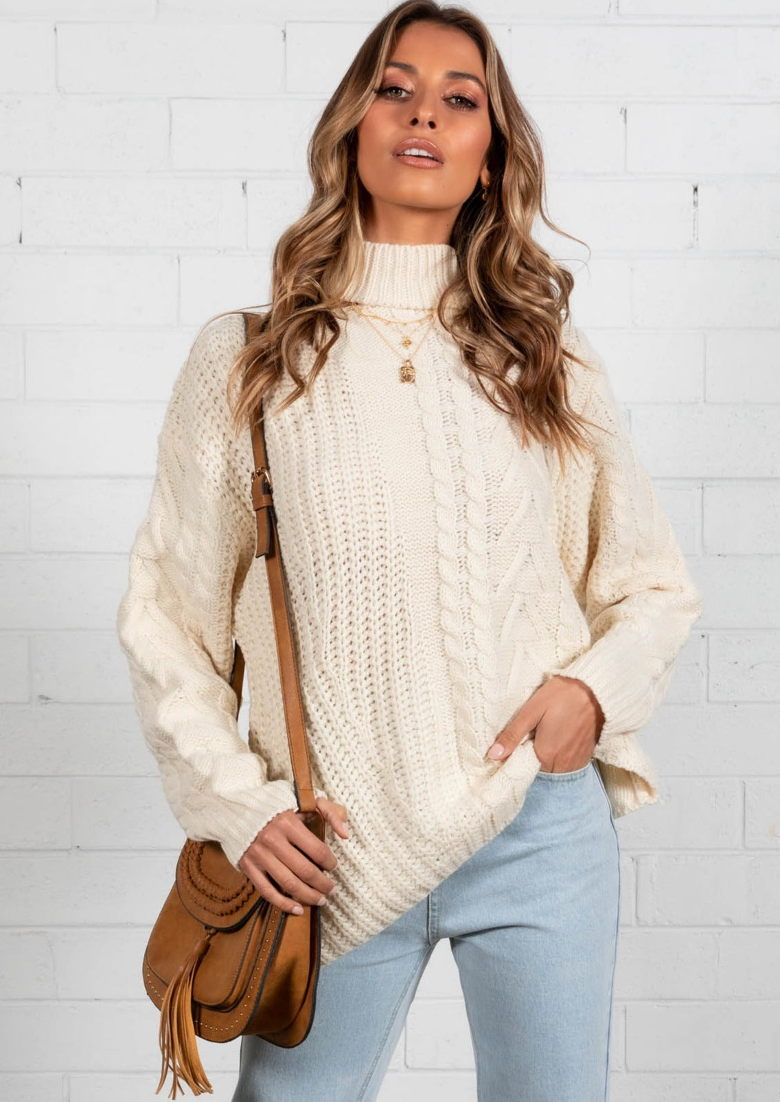 Feeling Forever Cable Sweater - Cream