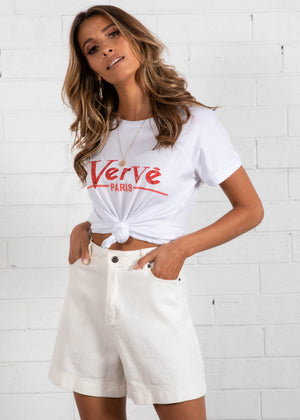 Verve Tee - White/Red