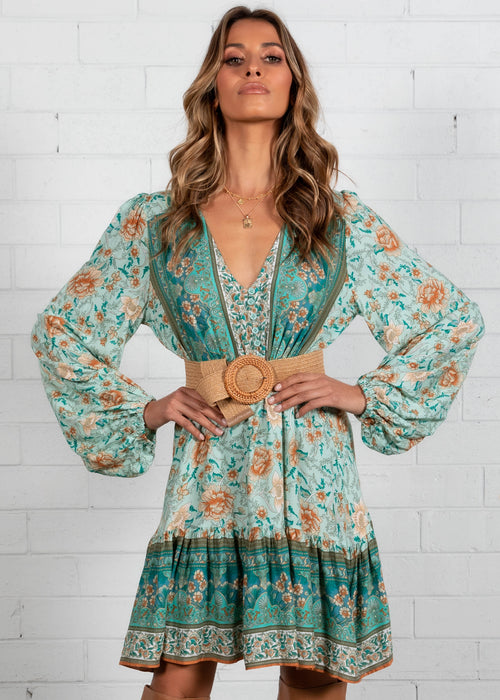 My Embrace Dress - Emerald Floral