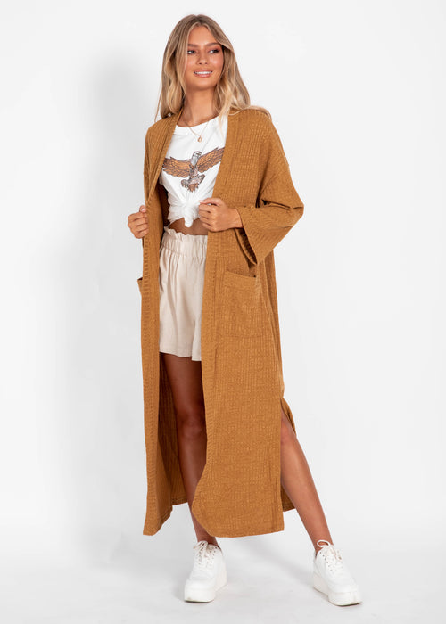 Time Stands Cardigan - Camel
