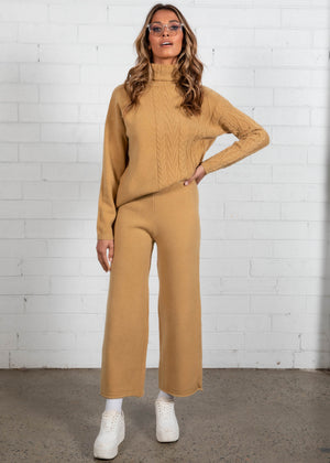 Low Key Knit Set - Camel