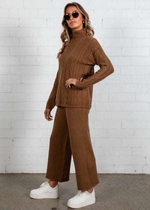 Low Key Knit Set - Espresso