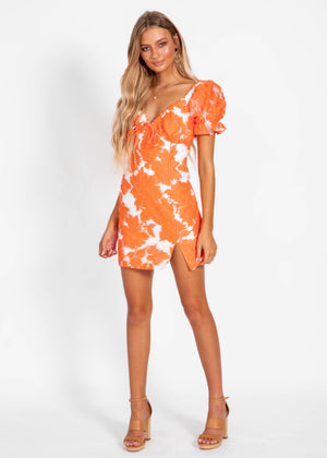 Another Dreamer Dress - Tangerine Floral