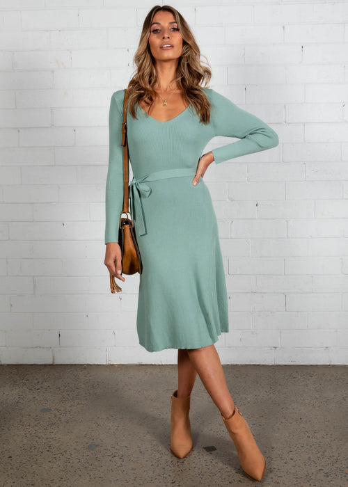 Stefan Knit Dress - Sage