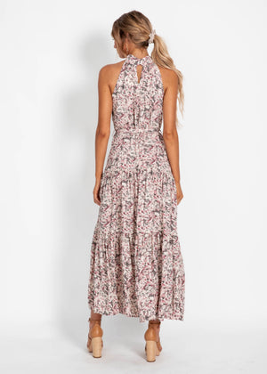 Katrina Maxi Dress - Purple Floral