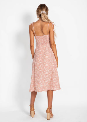Love Is Yours Midi Dress - Blush Blossom