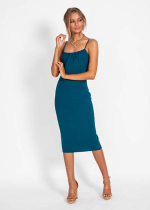 Weekend Vibes Midi Dress - Teal