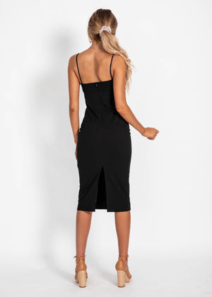 Weekend Vibes Midi Dress - Black