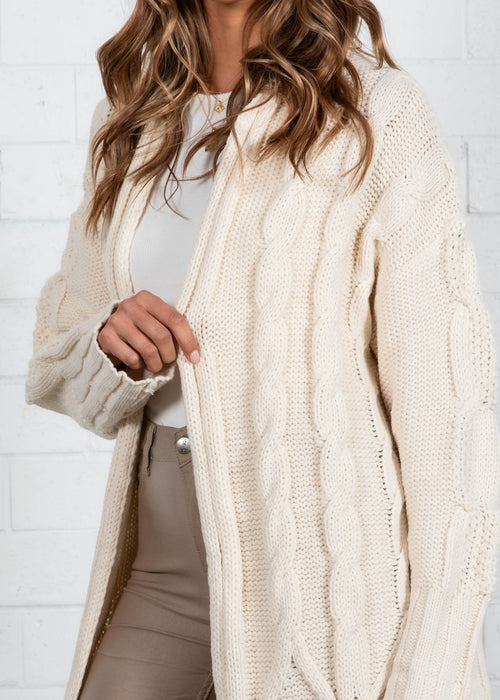 My Delight Cable Cardi - Off White