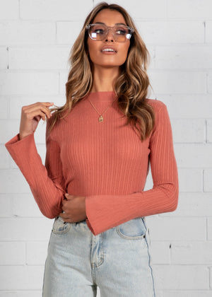 Good Faith Knit Top - Rose