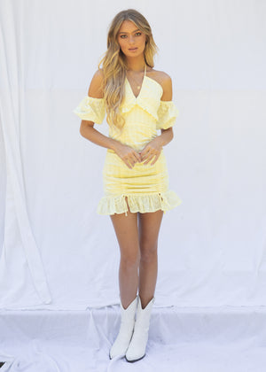 Esperanza Mini Dress - Lemon