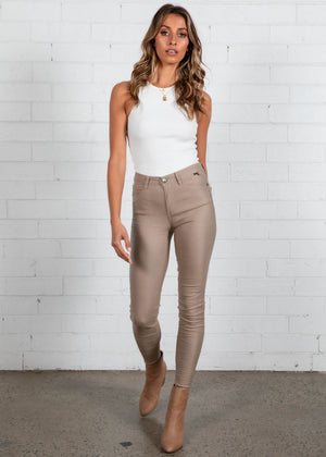 Oil Rigger Jeans - Latte