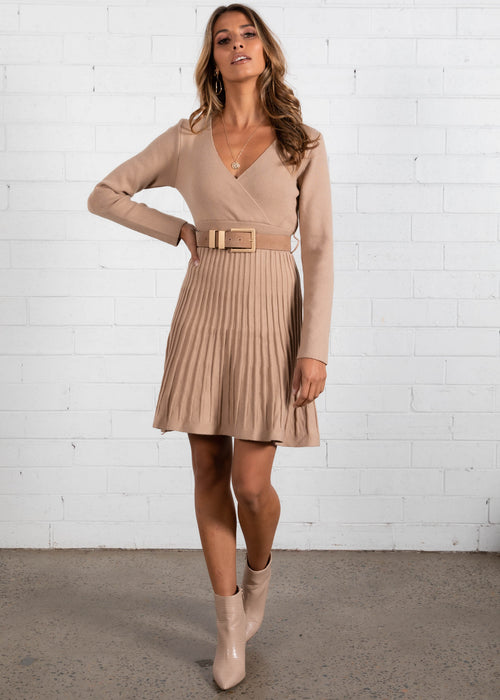 Good Energy Knit Dress - Toffee