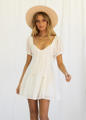 Arabella Mini Dress - Ivory