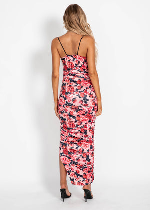 To Be Mine Maxi Dress - Pink Floral