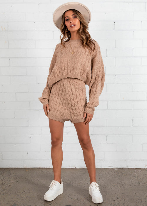 Shondra Knit Set - Mocha