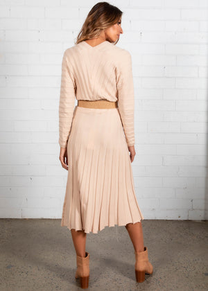 Cece Knit Skirt - Beige