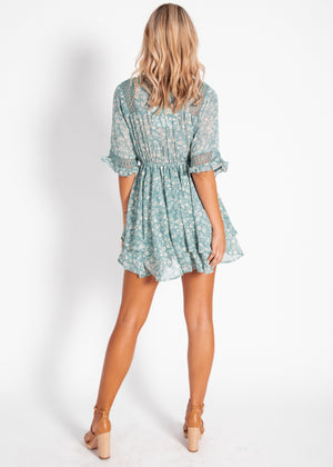 Lottie Dress - Sage Floral