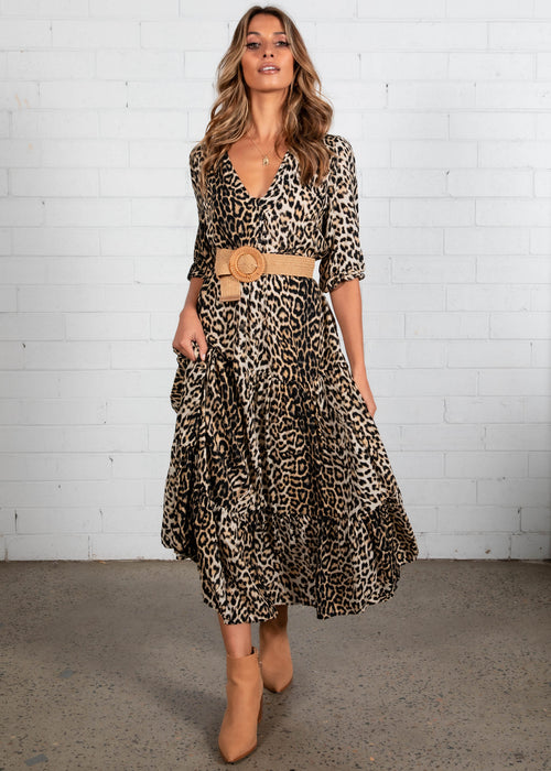 Kimili Maxi Dress - Leopard