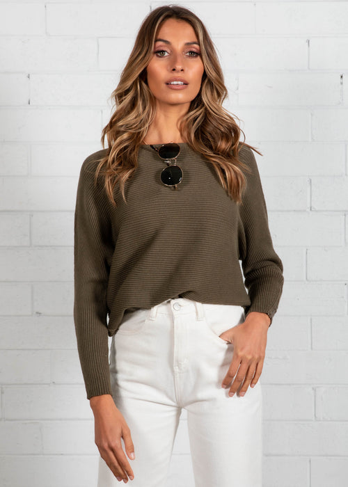 Better With You Sweater - Khaki