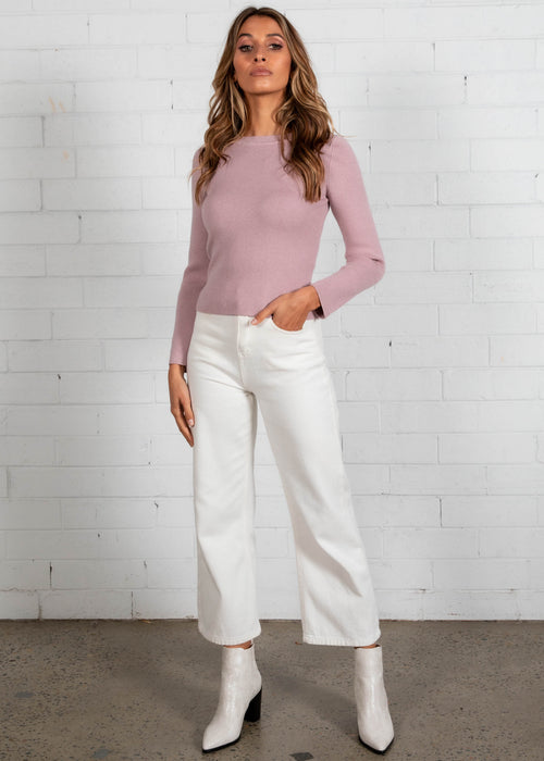 Trinnae Knit Top - Blush