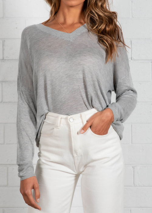 Miller Knit Top - Grey