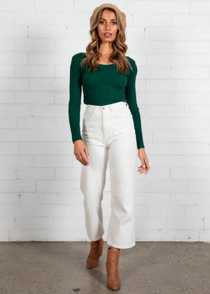 Nikki Knit Top - Emerald