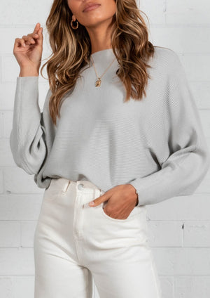 Trudie Sweater  - Silver
