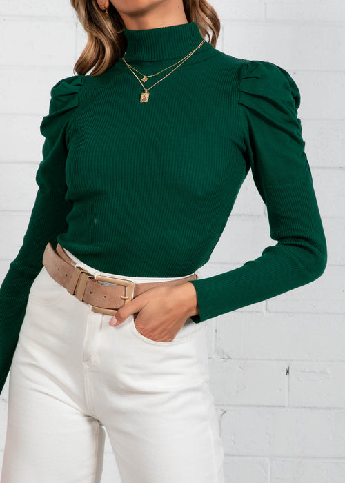 Sinclair Knit Top - Emerald