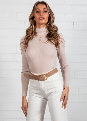 Sinclair Knit Top - Nude