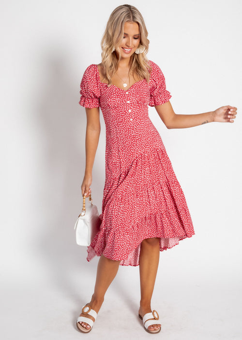 Eternity Midi Dress - Rose Speck