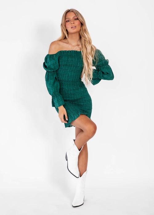 Harlow Mini Dress - Emerald