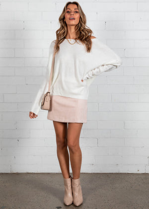 Constance Sweater - White