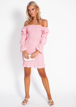 Harlow Mini Dress - Blush