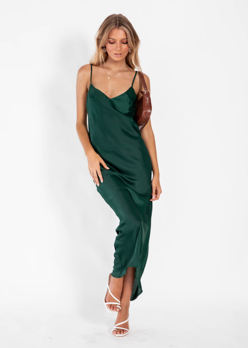 Can't Control Midi Dress - Emerald