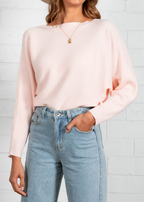Trudie Sweater  - Pale Pink