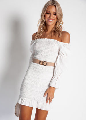 Harlow Mini Dress - White