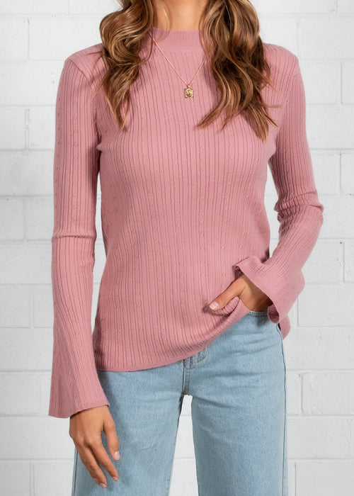 Good Faith Knit Top - Blush