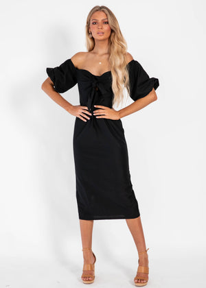 Antidote Midi Dress - Black