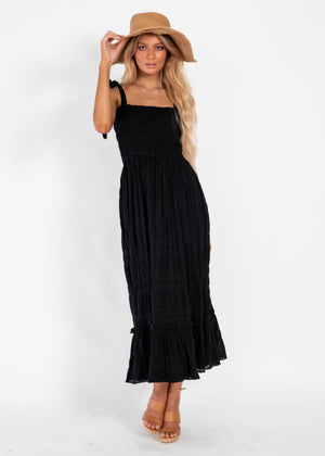 Daze Dream Midi Dress - Black