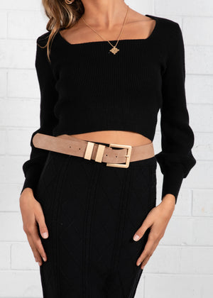 Firebird Cropped Sweater - Black