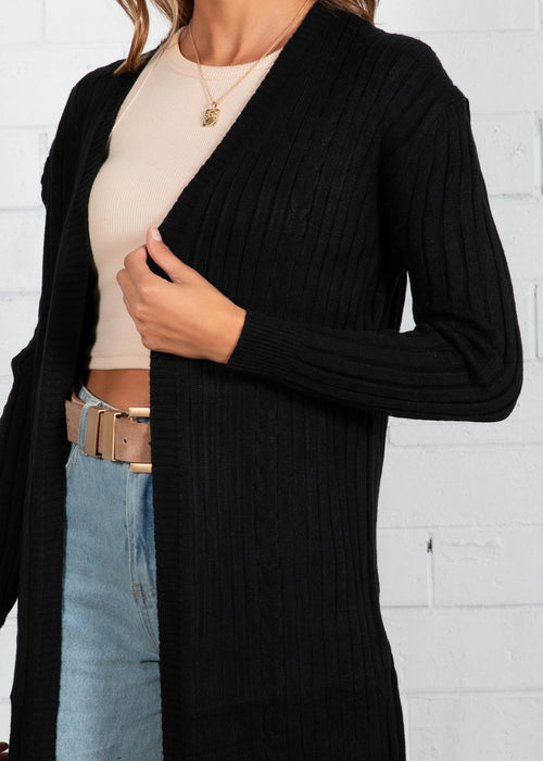 Mayfield Longline Cardi - Black