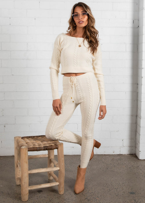 Marzia Knit Set - Cream