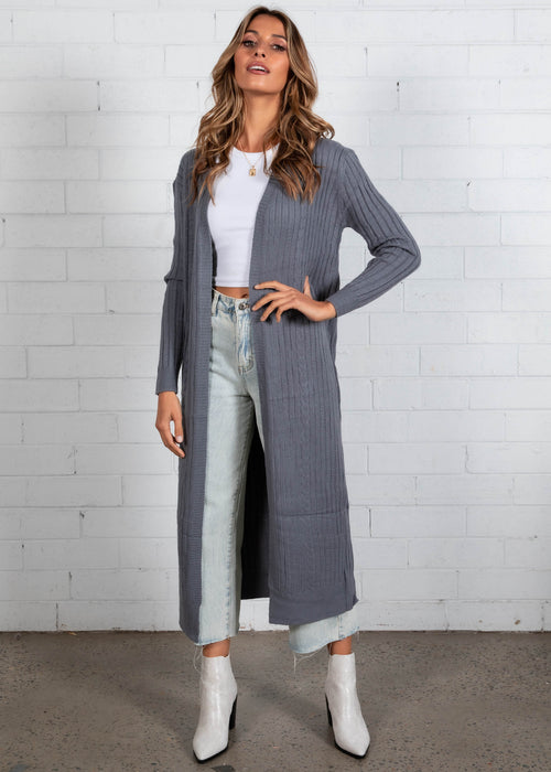 Mayfield Longline Cardi - Grey