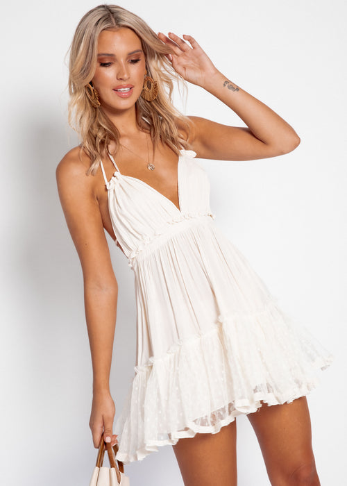 Sunday Halter Dress - Cream