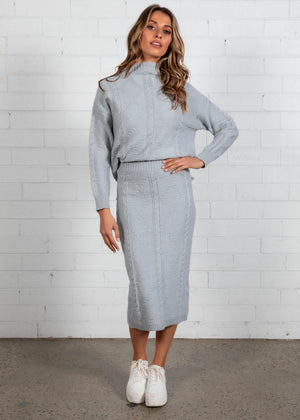 Shylah Knit Set - Dove Grey